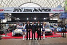 General 大阪オートメッセが開幕。スーパーGTのマシン4台が来場者を出迎え