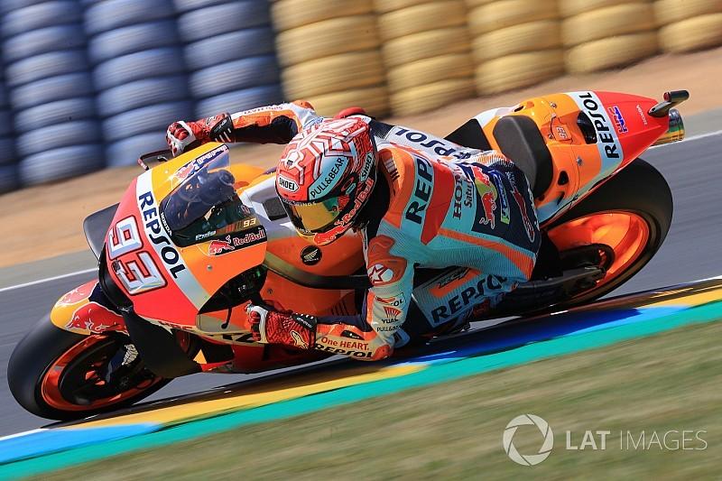 MotoGP Le Mans: Isınma turlarında Marquez lider