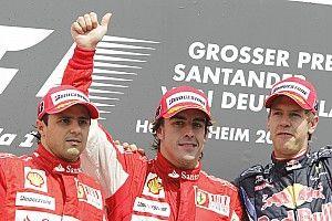 GALERÍA: los últimos diez 1-2 de Ferrari en la F1