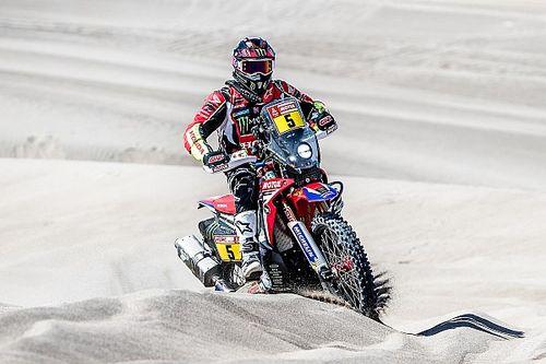 Dakar, Moto, Tappa 7: Barreda cala il tris, ma torna in testa van Beveren