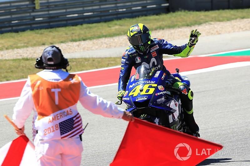 Valentino Rossi se va positivo de Austin