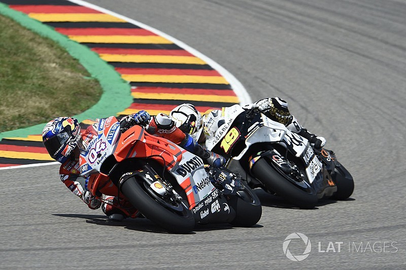 Dovizioso's two-corner German GP strategy failed