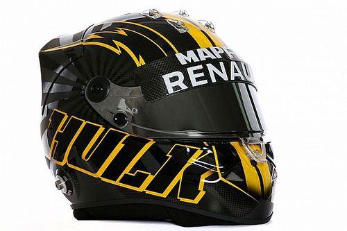 Fotogallery: Hulkenberg presenta il nuovo casco per la F.1 2018