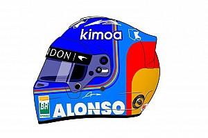 Alonso presentó su casco para 2018