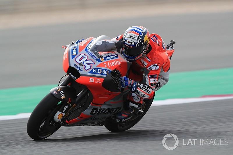 Qatar Motogp Dovizioso Pips Rossi In First Practice Of 2018