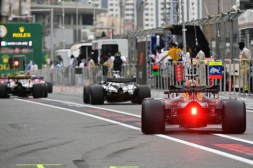 Starting grid GP Azerbaijan 2018