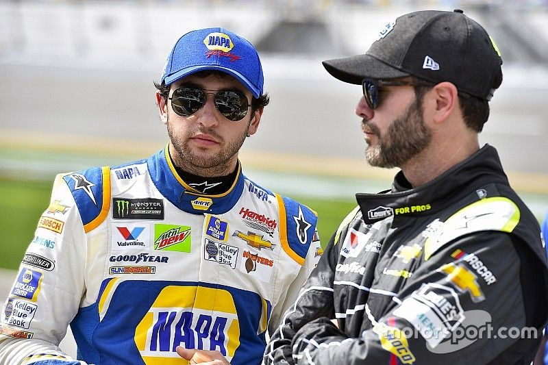 Jimmie Johnson played several roles in Chase Elliott's first win
