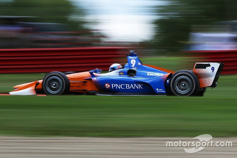 Dixon edges Penske pair, tops Portland test