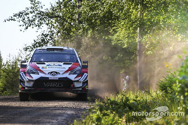 Finland WRC: Tanak leads Ostberg as Neuville makes error
