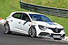 Automotive Renault Megane RS Trophy spied performance testing At Nurburgring