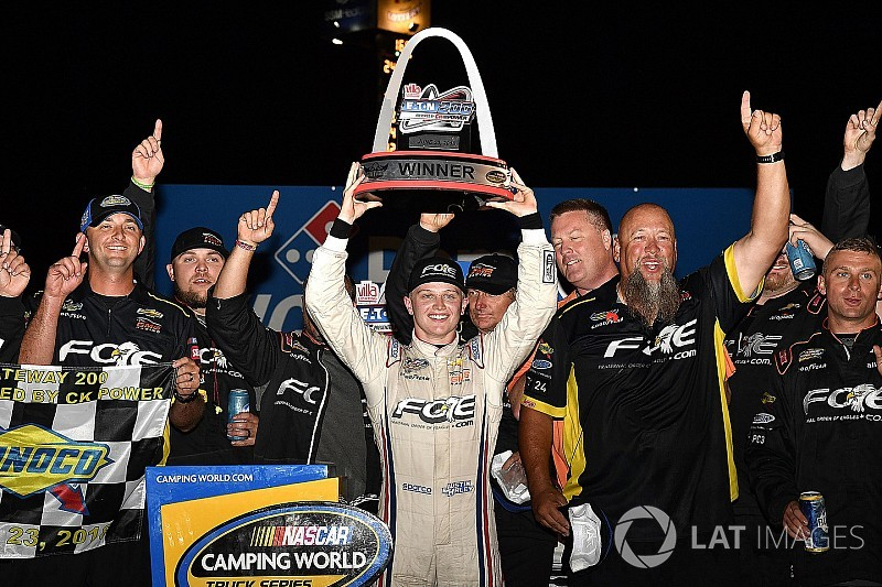 "GMS Take on Trucks: Justin Haley's first win a ""long time coming"""