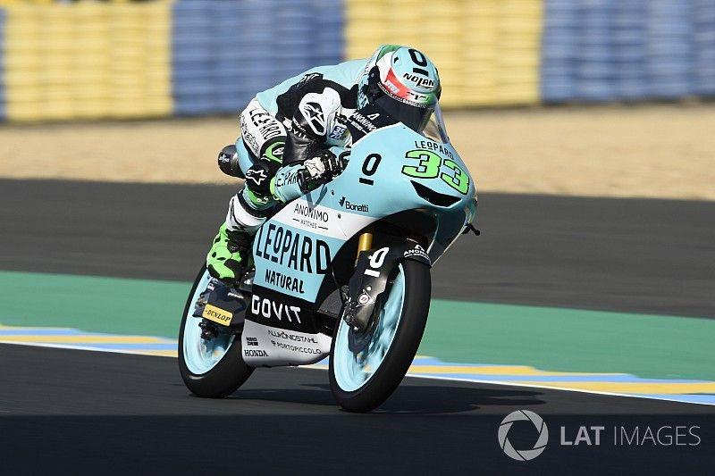 Moto3 Le Mans: Bastianini rapste in frisse warm-up