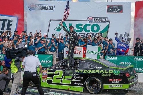 Brad Keselowski holds off Custer to win Xfinity race at Charlotte
