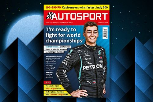 Magazine: Russell interview and Indy 500 review