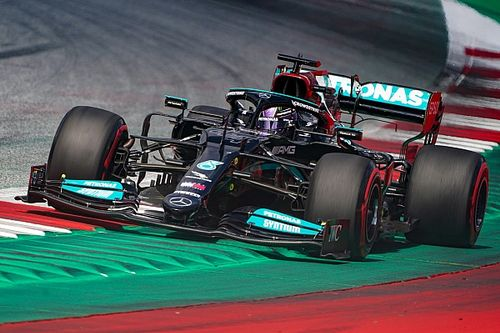 Kerb damage cost Hamilton around 30 points in downforce