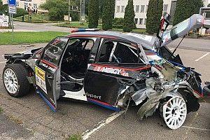 Грязин разбил машину и сошел на Ралли Злин