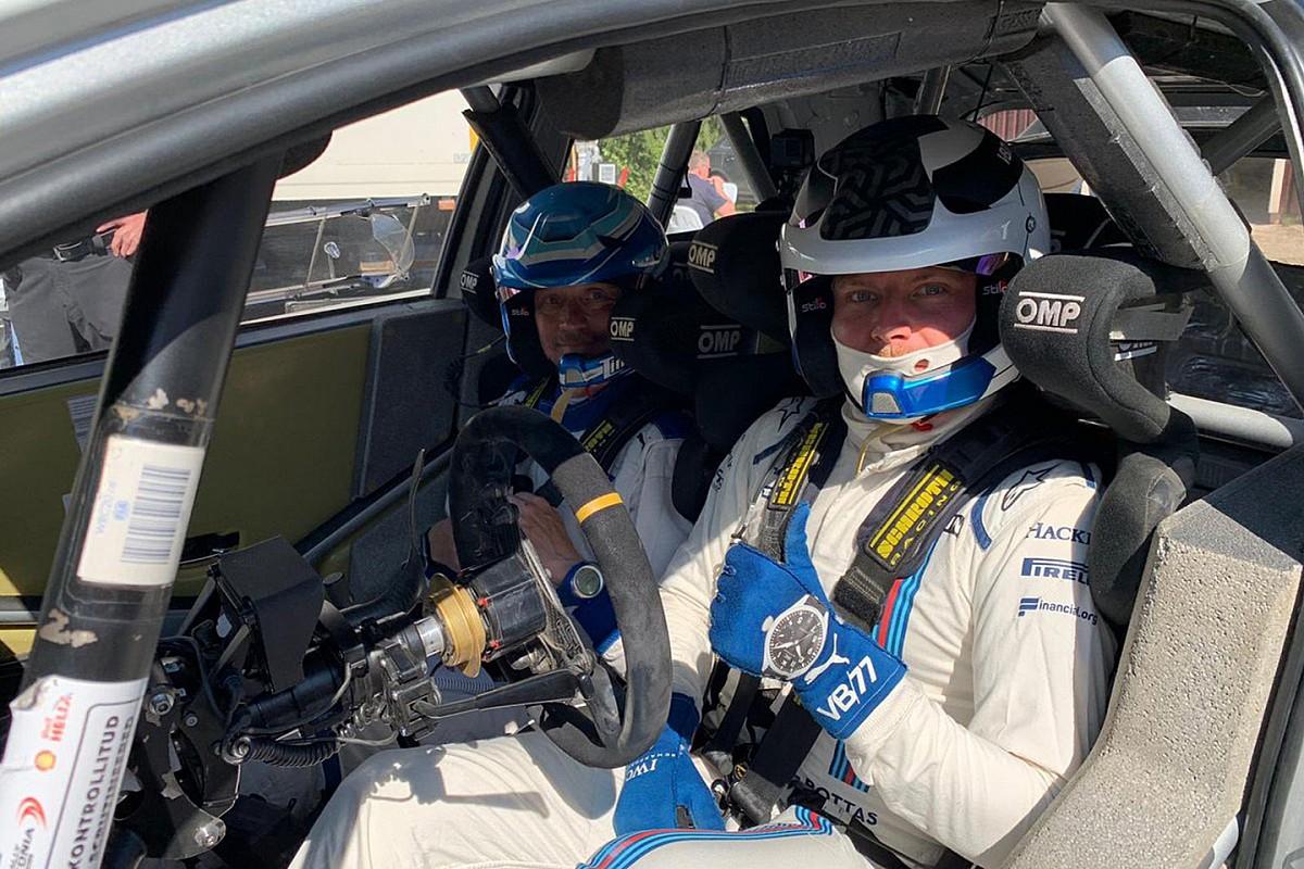 Bottas vuelve a tantear los rallies: probó un Toyota del WRC