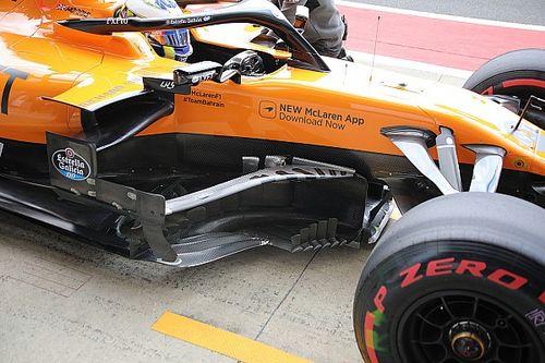 McLaren: che boomerang sul bargeboard della MCL34!