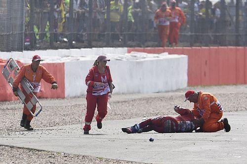 نقل دوفيزيوزو إلى المستشفى بعد فقدان مؤقّتٍ للذاكرة إثر حادثه في سيلفرستون