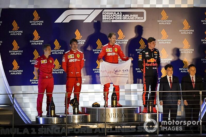 Singapur GP: Podyuma çıkan pilotların ilk açıklamaları