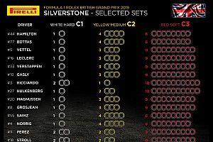 Анонс Гран При Великобритании: выбор шин, элементы силовых установок, штрафные баллы