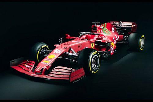 """F1: Ferrari lança SF21 com novidades na pintura, em busca de superar """"fantasma"""" da temporada passada"""
