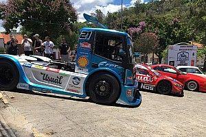 VÍDEO: Veja subida de morro com caminhão da Copa Truck no interior de São Paulo