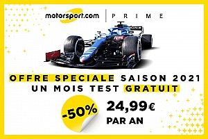 Testez l'accès gratuit Motorsport PRIME sans pub 30 jours