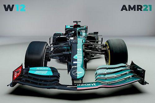 El Aston Martin F1, ¿un Mercedes verde? No tanto...