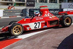 Alesi su Ferrari 312 B3 toccato nel GP Historique mentre era in testa!