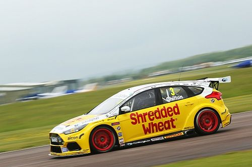 Croft BTCC: Chilton wins wet final race from pole