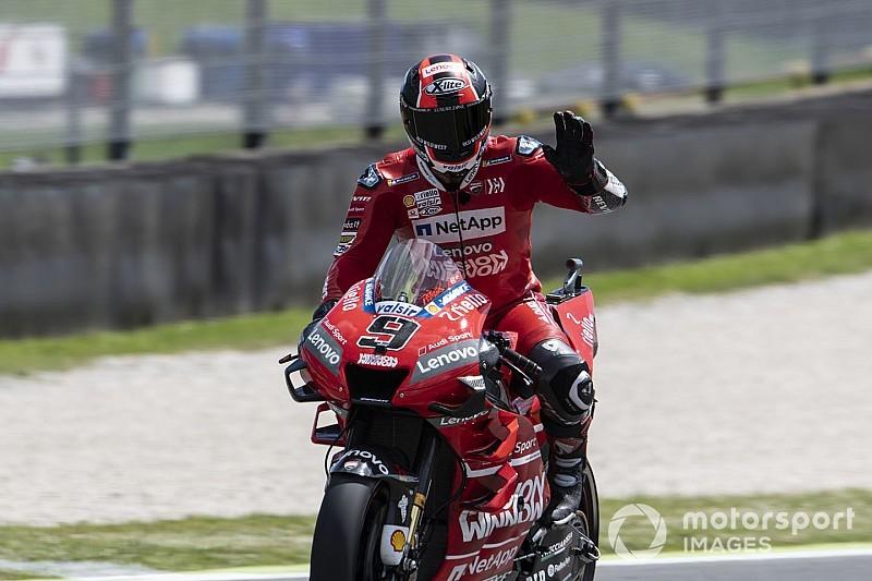 Petrucci rompe el récord absoluto en Mugello; Dovizioso, Lorenzo y Rossi, a la Q1