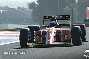 Videó: pályán a Ferrari 1990-es autója az F1 2019-ben