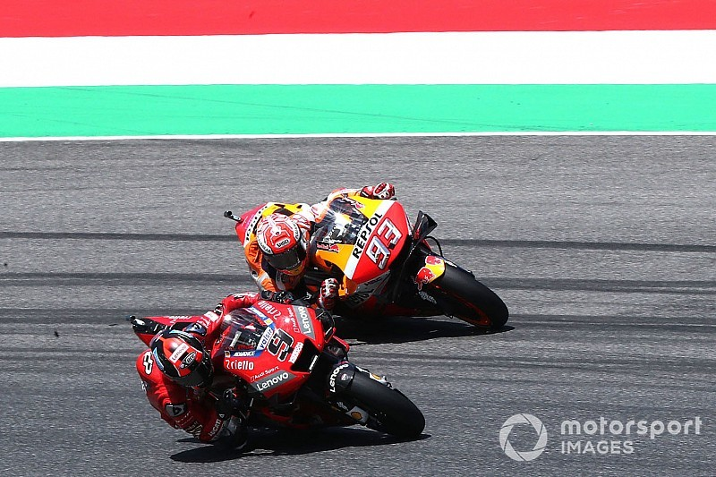 Marquez didn't attack Petrucci on Mugello last lap