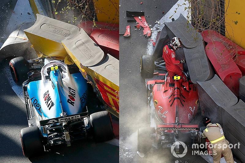 GALERÍA: los choques de Leclerc y Kubica en Bakú