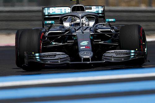Mercedes blijft heersen in Frankrijk, Verstappen vijfde in VT3