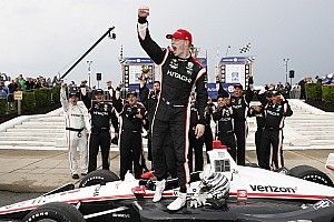 Detroit IndyCar: Newgarden beats Rossi in wet-dry Race 1