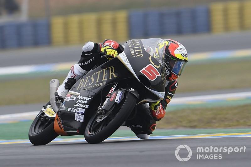 Moto3, Brno, Libere 3: Masia davanti a Fenati sul bagnato
