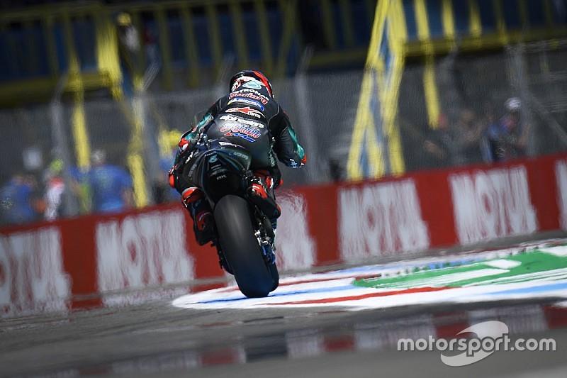 Quartararo bate el récord y Rossi a la Q1 con vuelta cancelada
