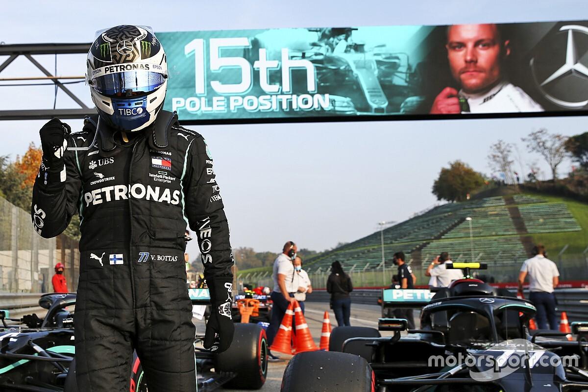 Bottas sorprende a Hamilton y se lleva la pole en Imola