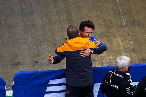 """Norris sürpriz Rusya GP pole pozisyonu için """"biraz risk almış"""""""