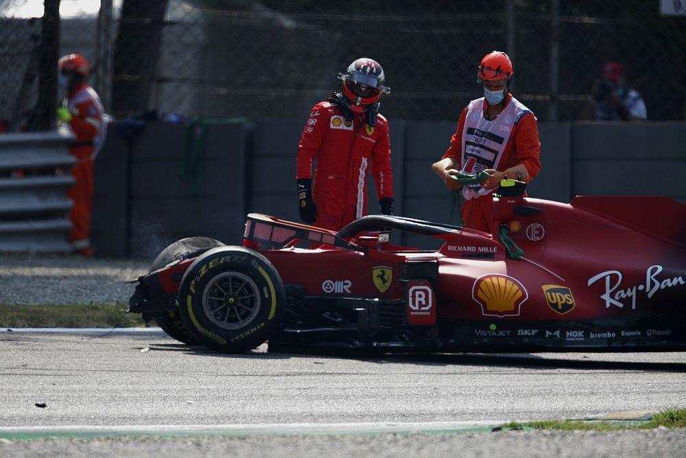 Sainz ismét összetörte a Ferrarit, Hamilton hangolt a legjobban a sprintkvalifikációra a második szabadedzésen