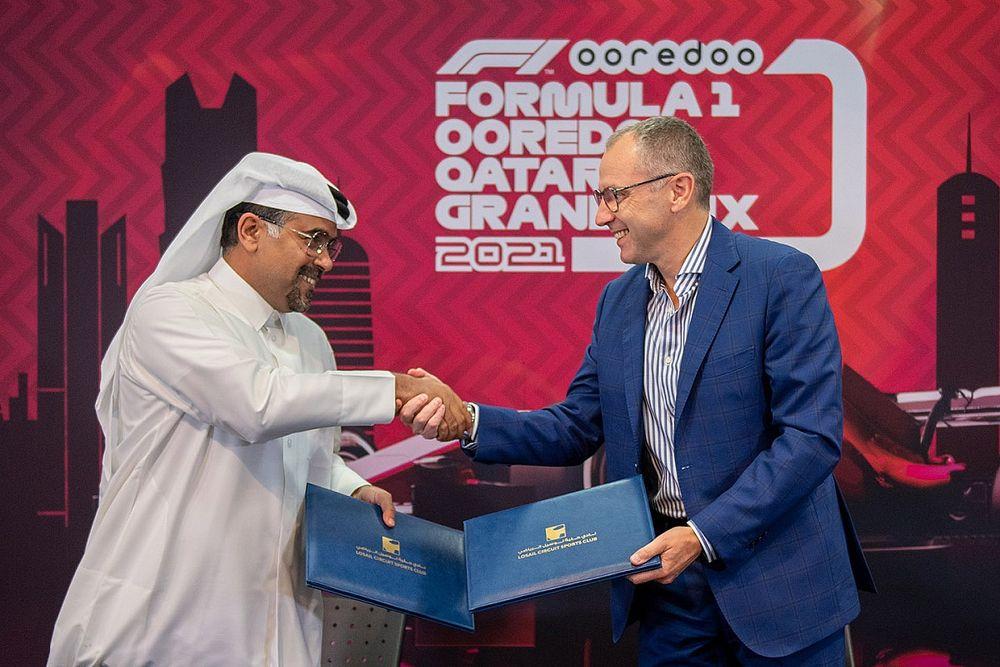 F1、カタールGPの初開催を発表。メキシコやブラジルと3週連続で開催、2023年から10年の開催契約も締結