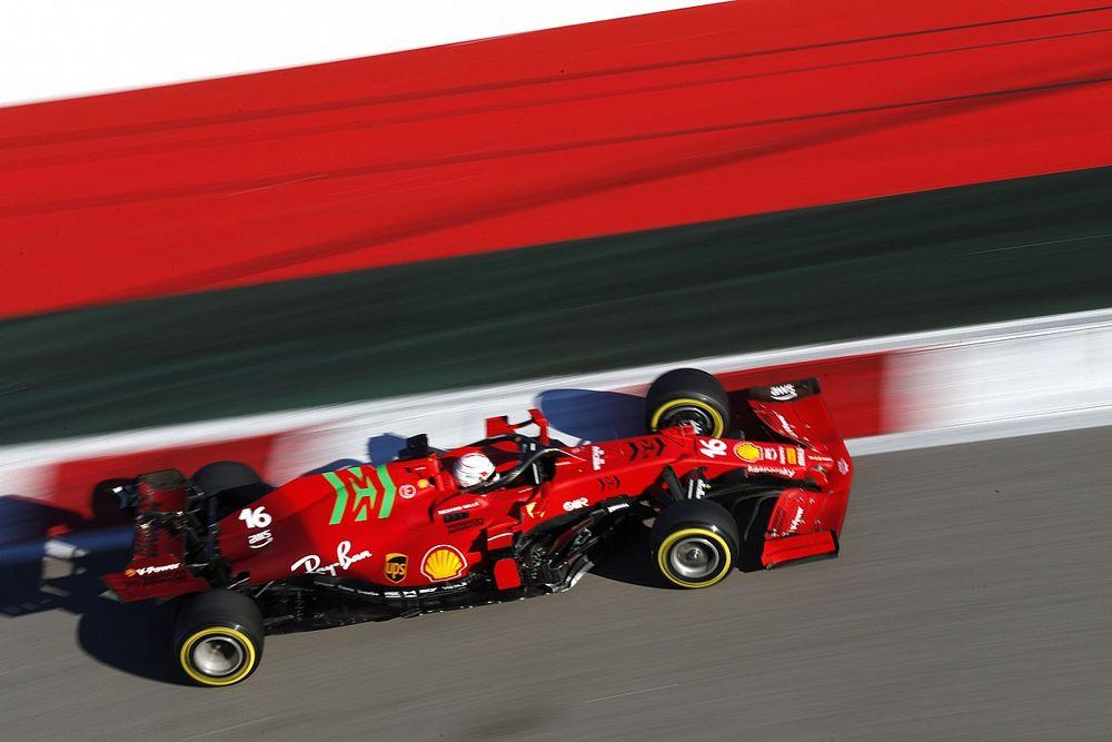 """Leclerc: """"La power unit va un po' meglio, i dati lo confermano"""""""