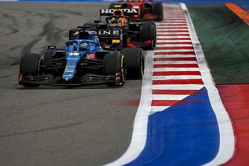 La locura del vuelta a vuelta del GP de Rusia de F1