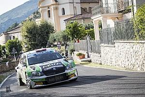 Giandomenico Basso leader ERC a Roma davanti a Lukyanuk dopo la Tappa 1