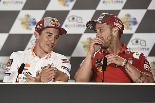 """Márquez: """"Le Ducati sono veloci e Dovi è il più forte, ma lavoro per giocarmi la vittoria con lui"""""""