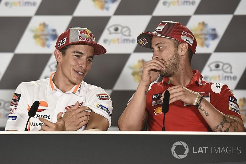 """Márquez: """"Cuando Dovizioso se ponga segundo, y no falta mucho, el más peligroso será él"""""""