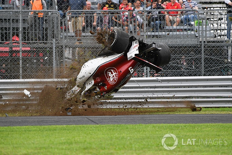 Ericsson gets new chassis after huge Monza practice crash