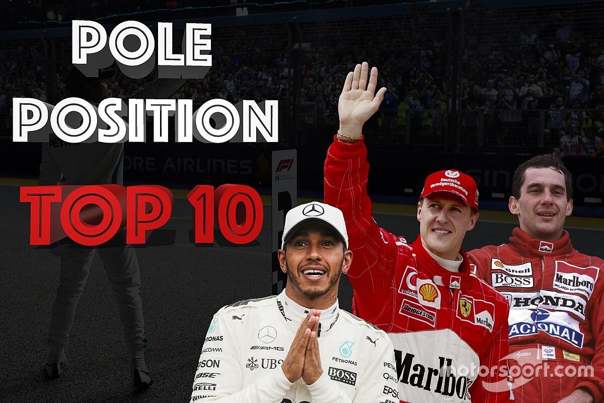 GALERÍA: Top 10 de pilotos con más pole position en F1